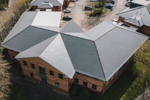 Commercial roof replacement project